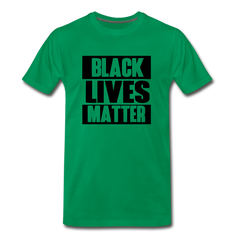 Black Lives Matter Men's Premium T-Shirt - kelly green