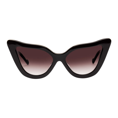 Zimmermann Female Paisley Brown Cat-eye Sunglasses