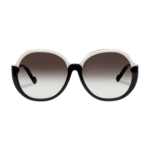 Zimmermann Female Joliette Black Round Sunglasses