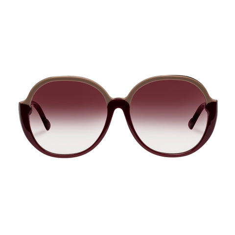 Zimmermann Female Joliette Burgundy Round Sunglasses