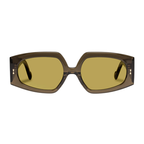 Zimmermann Female Espionage Khaki Rectangle Sunglasses