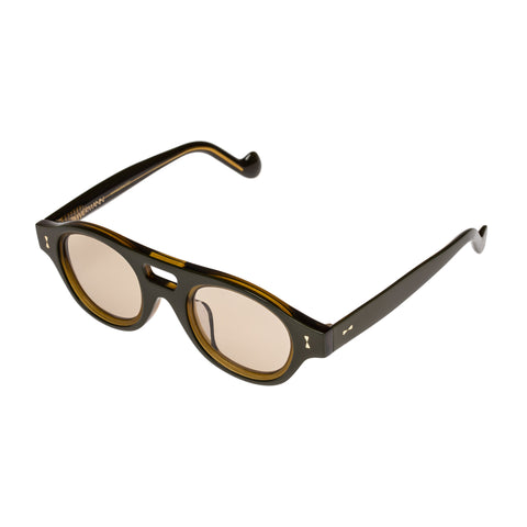 Zimmermann Female Sabotage Khaki Round Sunglasses