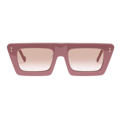 Zimmermann Female Carnaby 4116ss20 Pink Modern Rectangle Sunglasses