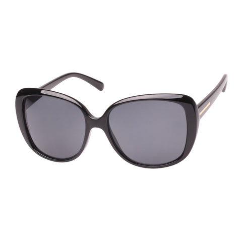 Agenda Female Nancy Black Wrap Fashion Sunglasses