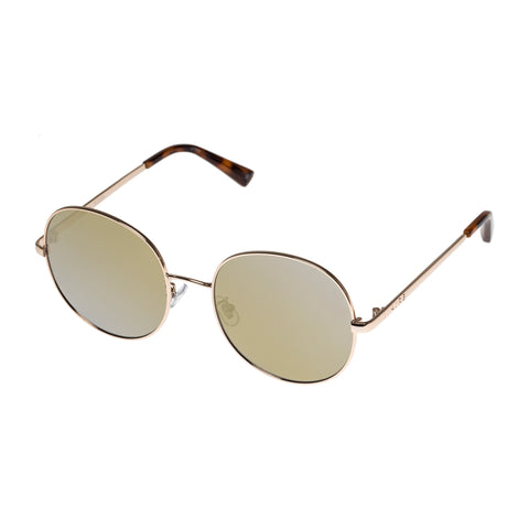 Aire Female Aura Gold Round Sunglasses