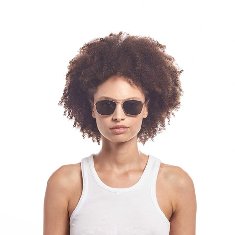 Aire Uni-sex Solar Gold Square Sunglasses