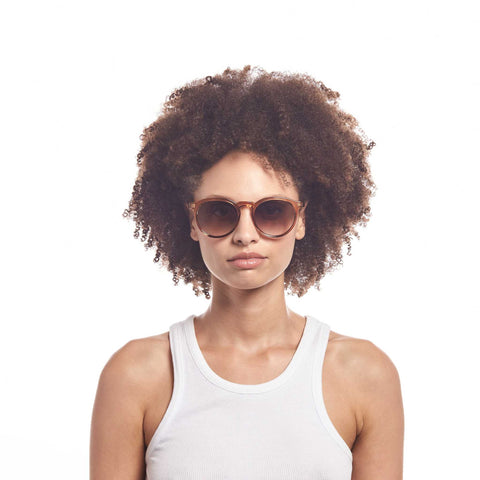 Aire Uni-sex Nucleus Brown Round Sunglasses