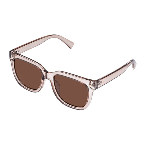 Aire Female Molecular Grey Modern Rectangle Sunglasses