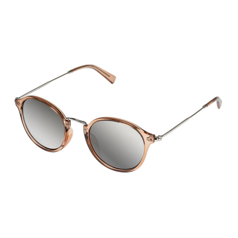 Aire Female Argon Tan Round Sunglasses