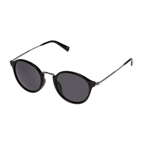 Aire Uni-sex Argon Black Round Sunglasses