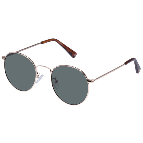 Aire Uni-sex Ozone Gold Round Sunglasses