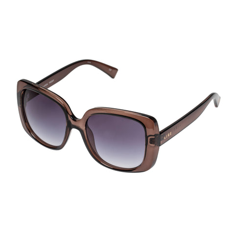 Aire Female Constellation Brown Wrap Fashion Sunglasses