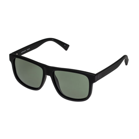 Aire Male Onyx Black Modern Rectangle Sunglasses