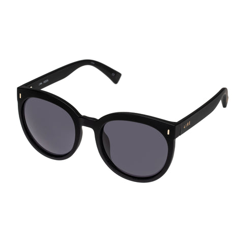 Aire Female Lyra Black Round Sunglasses