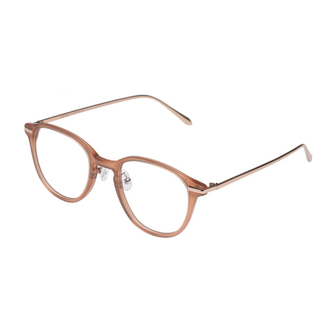 Carter Bond Male Luxury Retro Cream Oval Optical Frames