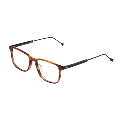 Carter Bond Male Link Horn Rectangle Optical Frames