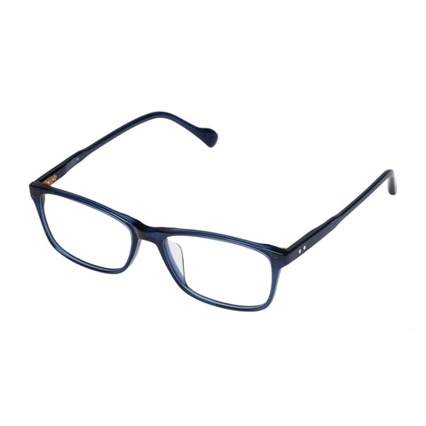 Carter Bond Male Mansell Blue Modern Rectangle Optical Frames