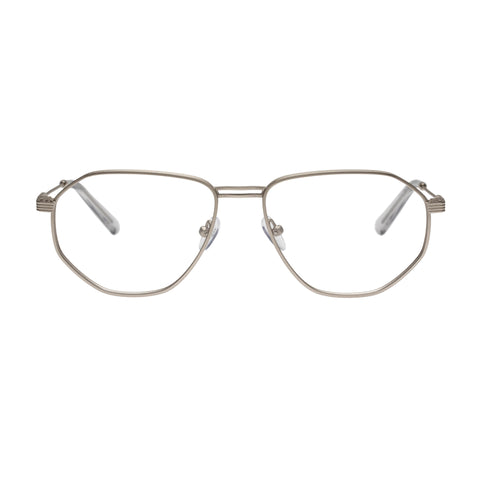 Carter Bond Male Napoli Silver Aviator Optical Frames