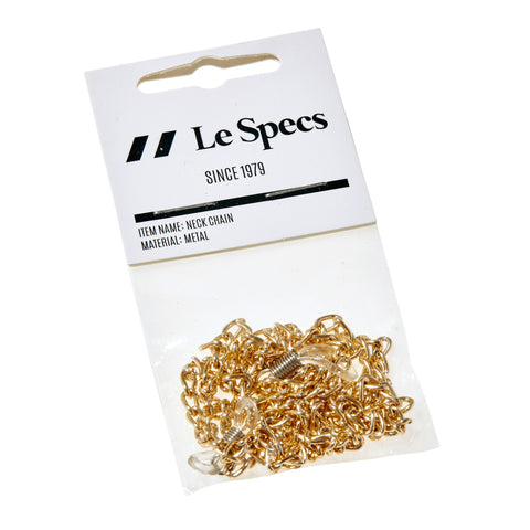 Le Specs Uni-sex Le Specs Neck Chain Gold Gold Unspecified Accessories