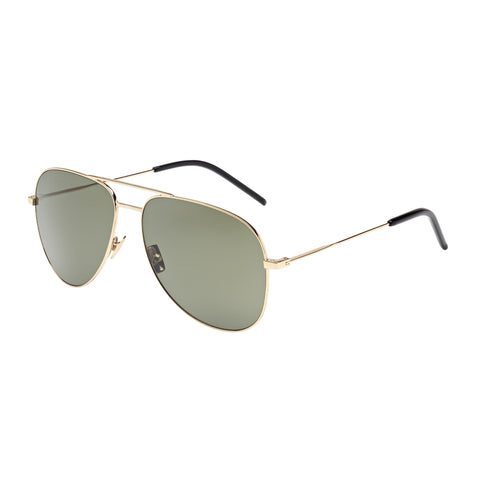 Saint Laurent Uni-sex Classic11 Gold Aviator Sunglasses