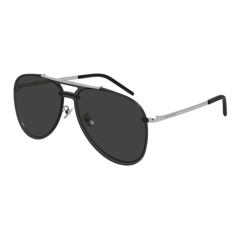Saint Laurent Uni-sex Classic11mask Silver Aviator Sunglasses