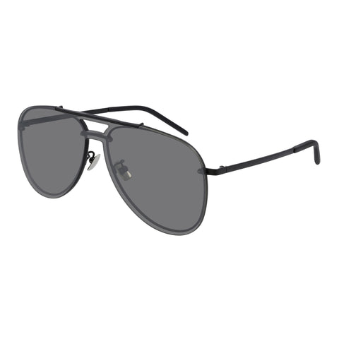 Saint Laurent Uni-sex Classic11mask Black Aviator Sunglasses