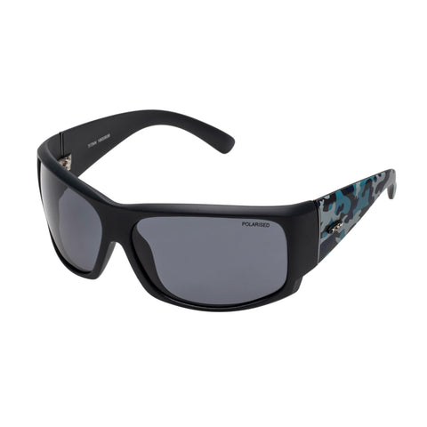 Fish Male Titan Black Wrap Sport Sunglasses