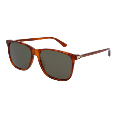 Gucci Male Gg0017s Tort Modern Rectangle Sunglasses