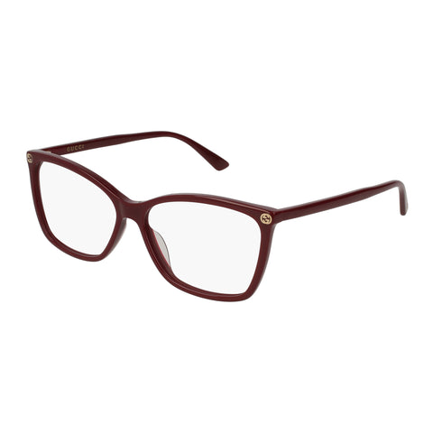 Gucci Female Gg0025o Burgundy Round Optical Frames