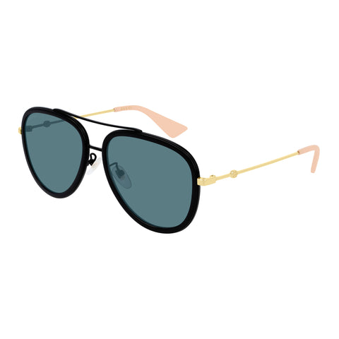 Gucci Female Gg0062s Black Aviator Sunglasses