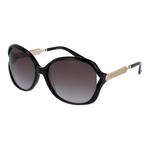 Gucci Female Gg0076s Black Round Sunglasses