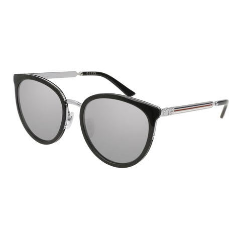 Gucci Female Gg0077sk Black Round Sunglasses