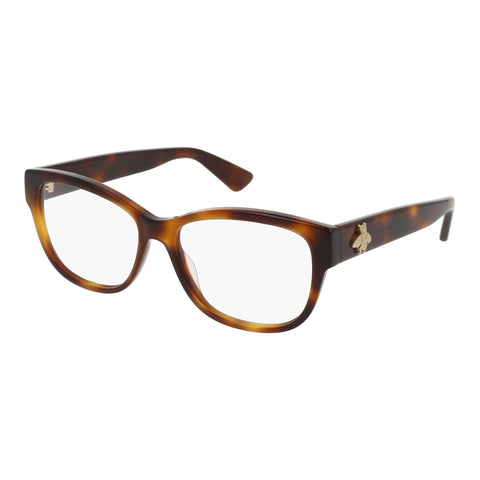 Gucci Female Gg0098o Tort Modern Rectangle Optical Frames