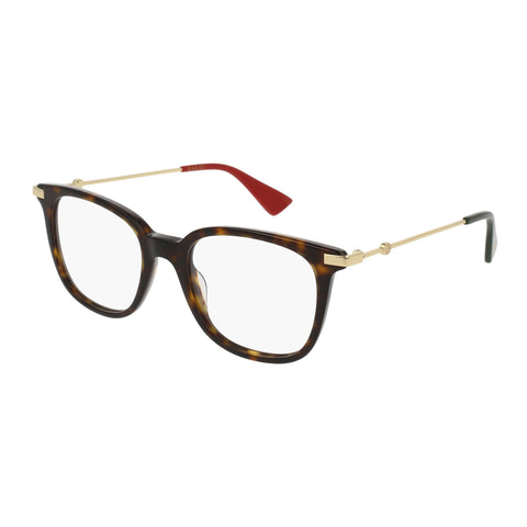 Gucci Female Gg0110o Tort Modern Rectangle Optical Frames