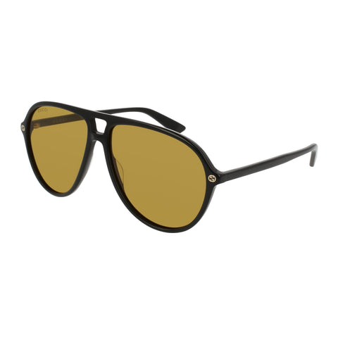 Gucci Male Gg0119s Black Aviator Sunglasses