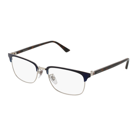 Gucci Male Gg0131o Blue Modern Rectangle Optical Frames