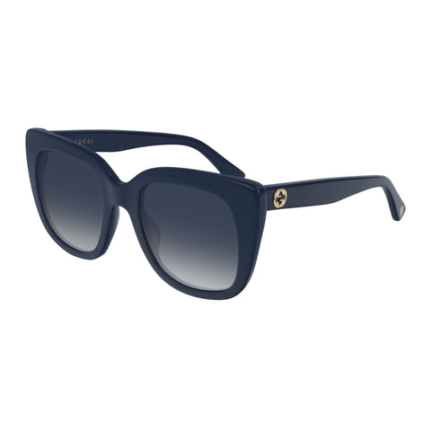 Gucci Female Gg0163s Blue Cat-eye Sunglasses
