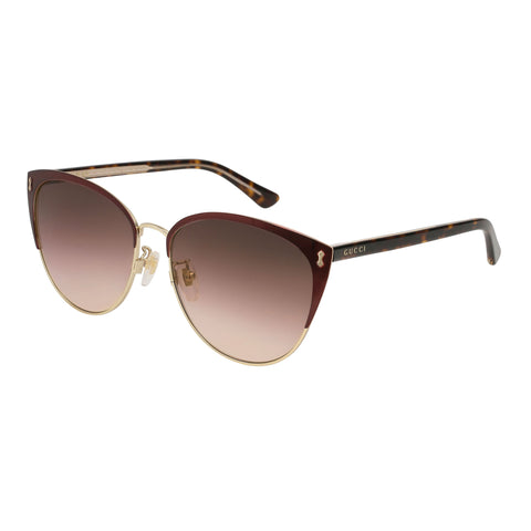 Gucci Female Gg0197sk Burgundy Round Sunglasses