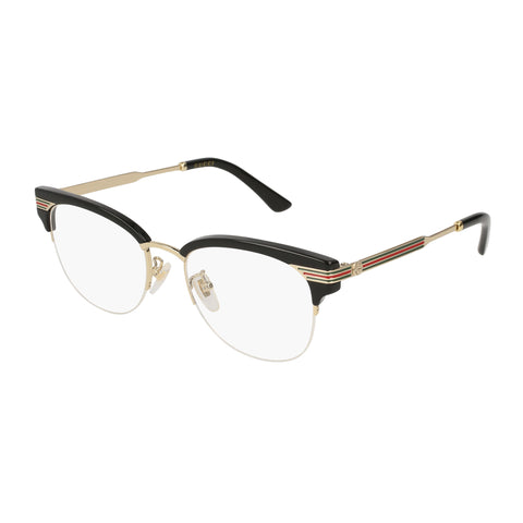 Gucci Female Gg0201o Black Round Optical Frames