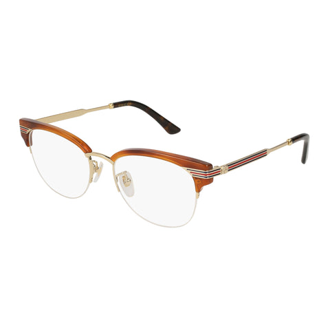 Gucci Female Gg0201o Tort Round Optical Frames