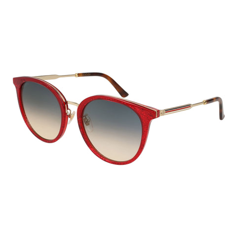 Gucci Female Gg0204sk Red Round Sunglasses