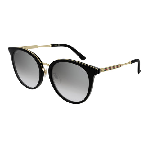 Gucci Female Gg0204sk Black Round Sunglasses