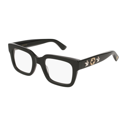 Gucci Female Gg0210o Black Modern Rectangle Optical Frames