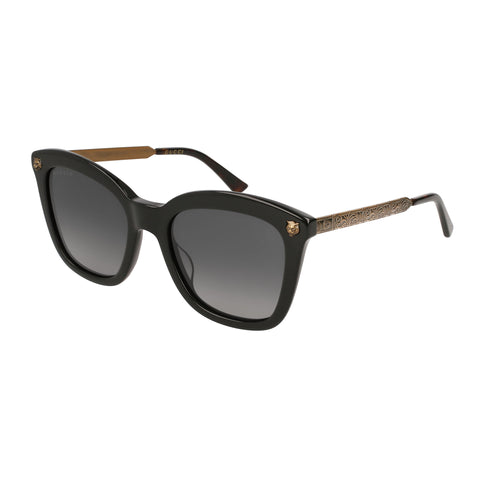 Gucci Female Gg0217s Black Modern Rectangle Sunglasses