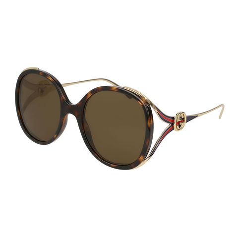 Gucci Female Gg0226s Tort Round Sunglasses