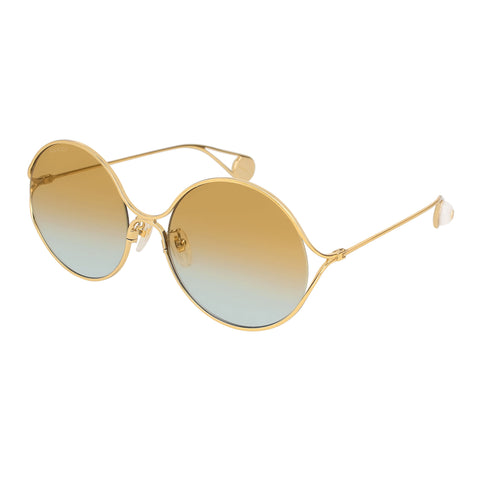 Gucci Female Gg0253sa Gold Round Sunglasses