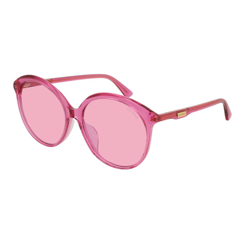 Gucci Female Gg0257sa Pink Round Sunglasses