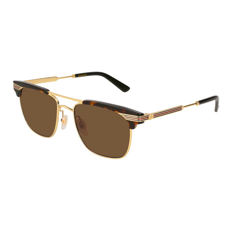 Gucci Male Gg0287s Tort Modern Rectangle Sunglasses