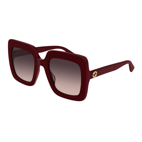 Gucci Female Gg0328s Burgundy Modern Rectangle Sunglasses