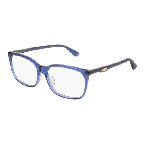 Gucci Uni-sex Gg0333oa Blue Modern Rectangle Optical Frames
